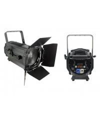 Light Emotion Professional FRES120WW 120w Warm White LED Fresnel with Barn Doors 15-55 degree zoom