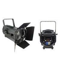 Light Emotion Professional FRES200WA 200w White & Amber LED Fresnel with Barn Doors - set your own colour temperature. 15-55 degree zoom