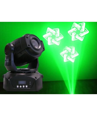 Light Emotion LE90 90w LED Moving Head. Colours, 2 gobo wheels, prism, pan & tilt