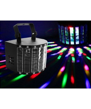 Light Emotion MINIDERBY LED Mini Derby with remote and 9 x 3W Coloured LEDs