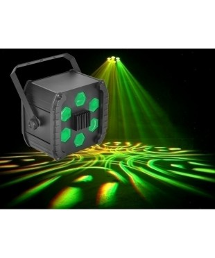 Light Emotion OCTOPUSTRI LED Effect Six Lenses Moving Beams 1x9W RGB LED DMX