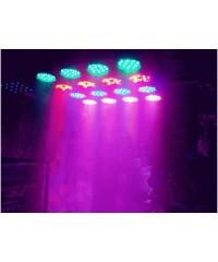 Light Emotion P645QUADB2 LED Par 64 Can 12x5W RGBW Quad LEDs - Black.