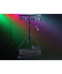 Light Emotion PARBAR4QUAD Par Bar with 4 x 5x4-in-1 RGBW LED heads, wireless